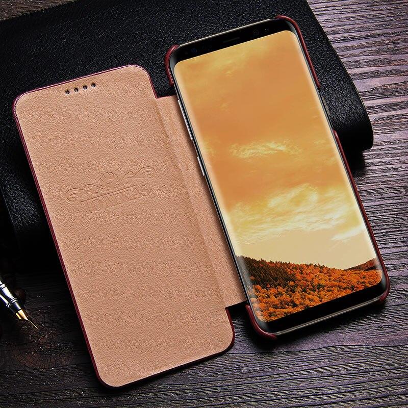 TOMKAS Funda para Samsung Galaxy S8 Funda de cuero PU para Samsung - Accesorios y repuestos para celulares - foto 3