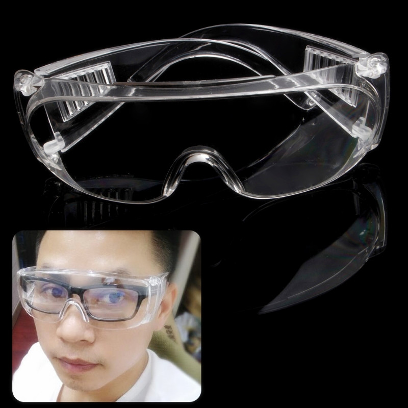 New Clear Vented Safety Goggles Eye Protection Protective Lab Anti Fog Glasses(China)