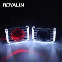 ROYALIN LED Bi Xenon H1 Projector Headlight 3.0 Full Metal Lens White Angel Devil Eyes Universal Car DRL H4 H7 Auto Lamp DIY недорого