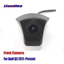 Liandlee AUTO CAM Car Front View Camera For Audi Q3 2011-Present 2012 2013 2014 2015 ( Not Reverse Rear Parking Camera ) liandlee car front view camera auto cam not reverse rear parking camera for toyota auris 2012 2018 2013 2014 2015