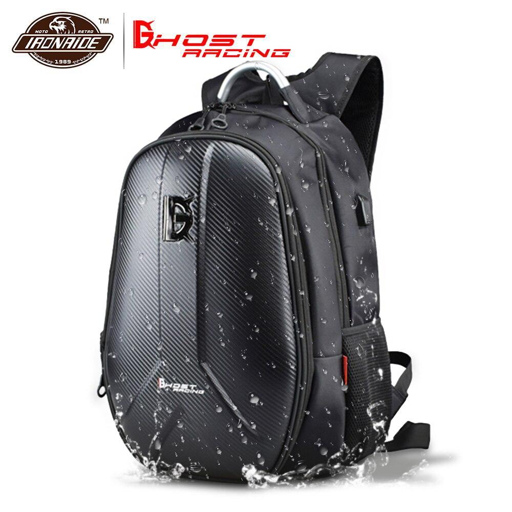 GHOST RACING sac de Moto étanche sac à dos de Moto sac de réservoir en Fiber de carbone Moto casque sacs voyage bagages #