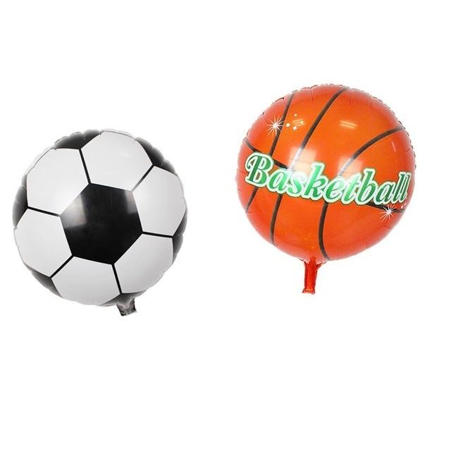 3 pçs lote 18 inch Balão Da Folha Futebol Basquete Bola de Futebol Hélio  Balões 06e8249344a6d