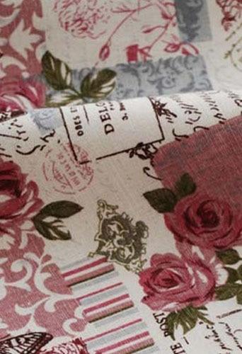 96x140cm Zakka Lenjerie de flori și fluture Țesătură de in - Arte, meșteșuguri și cusut - Fotografie 2