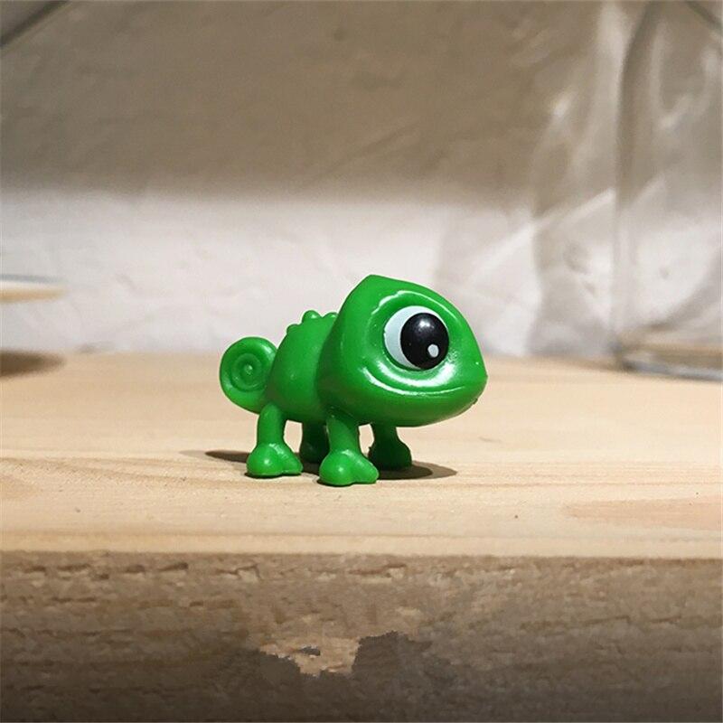 60pcs lot 3 2cm New Style Tangled Figure toys Chameleon Pascal Green Chameleon Rapunzel figure toys