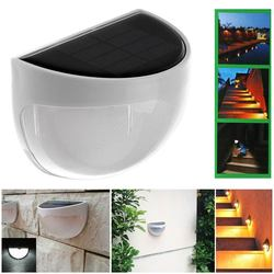 Waterproof 6 led solar lamp outdoor garden decoration solar power panel landscape lawn fence gutter wall.jpg 250x250