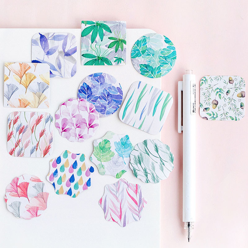 45pcs Box Van Gogh Memo Pad Flowers Vaporwave Stickers Decorations Scrapbooking Planner Green Plants Sticky Notes Stationery Aliexpress