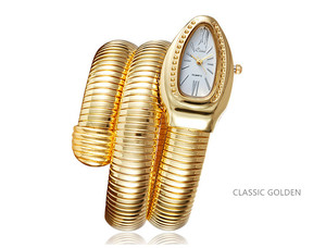 Image 5 - 2019 CUSSI יוקרה מותג נחש שעון זהב נשים שעונים כסף קוורץ שעוני יד גבירותיי צמיד שעון Reloj Mujer שעון מתנה