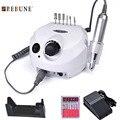 Rebune 110/220 v 35000 rpm pro electric nail arquivo broca bit máquina Kit Pro Salão Casa Unha Ferramentas Manicure Set Pode DHL Grátis