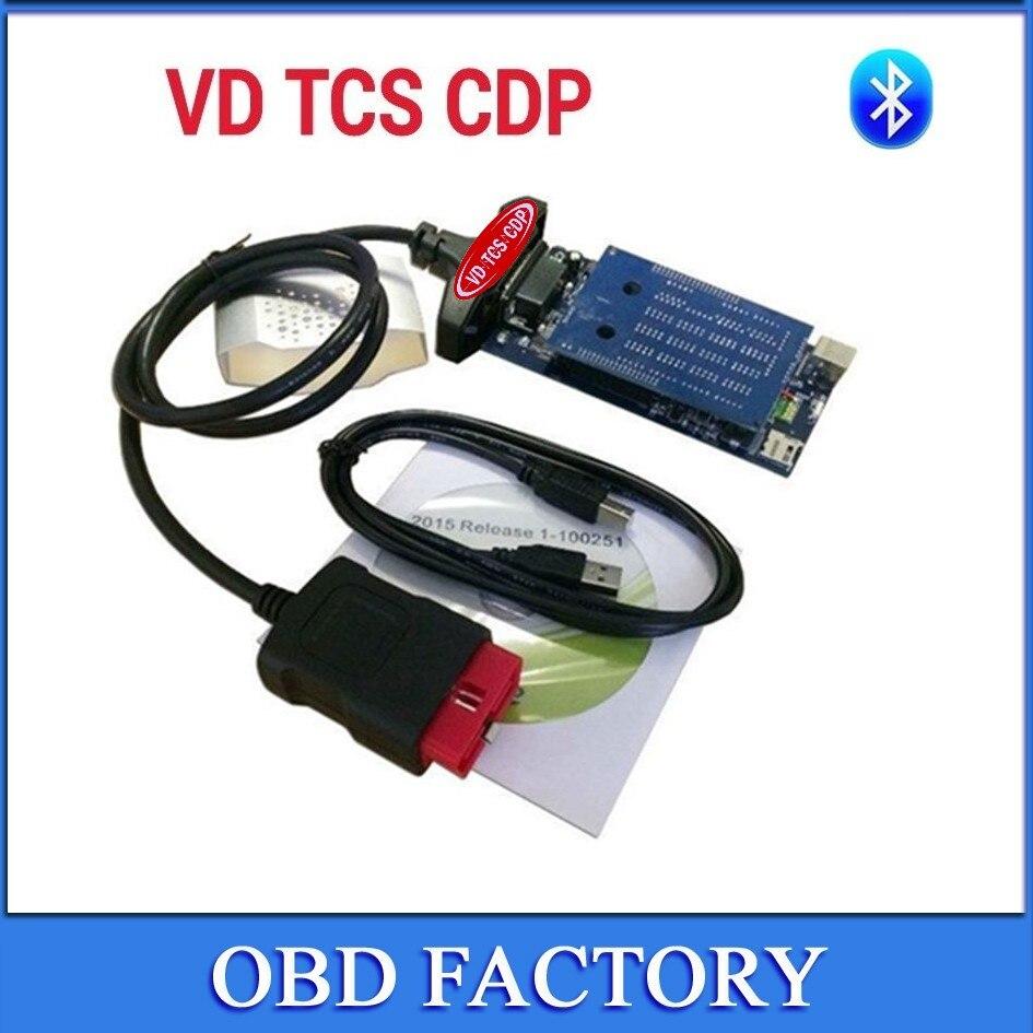 Цена за Доставка бесплатная Новинка! VD TCS CDP Pro Plus 2015. R3/2014. R3 с Keygen! Bluetooth как МВД CDP 3 в 1