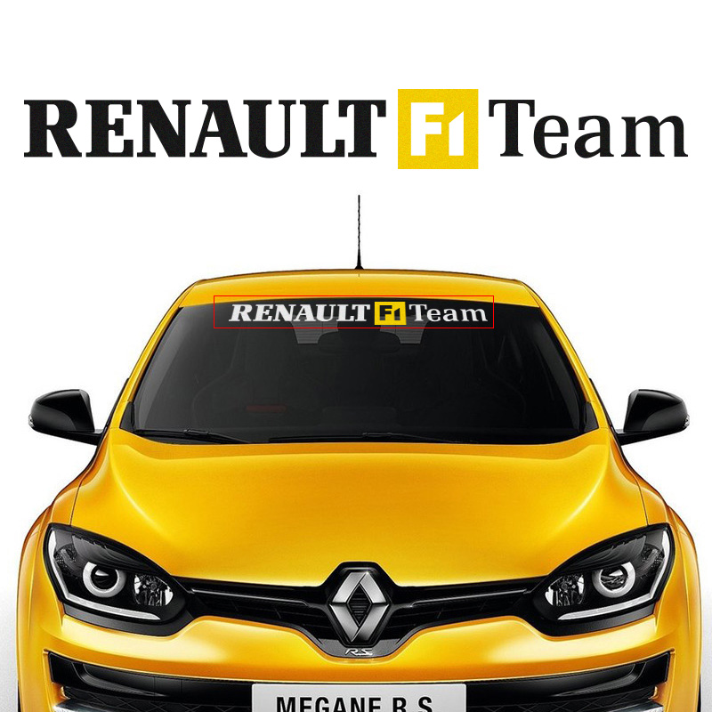 Customizable Sports Front Windshield stickers Decal Car-Styling For renault duster megane 2 logan laguna clio dacia accessories ceyes car styling mat case for dacia duster logan sandero stepway lodgy mcv 2 dokker auto interior accessories car styling 1pc