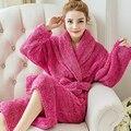 Casais unissex Inverno Roupões Velo Coral Pijamas Kimono Robes Roupões Para As Mulheres Homens Feminino Masculino Casual Roupa Em Casa