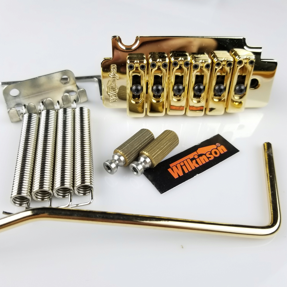 Wilkinson WVS50K Electric Guitar Tremolo System Bridge With matching Satin Saddles Chrome Silver Gold in Guitar Parts Accessories from Sports Entertainment