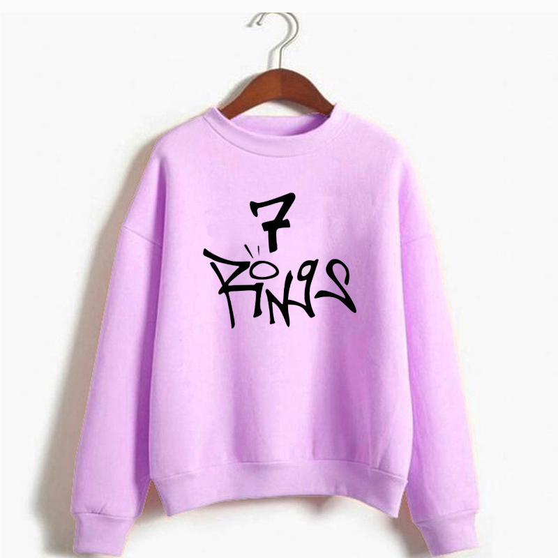 Ariana Grande 7 Rings Sweatshirt Women Seven Rings Thank U Next Hettegenser