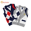 Babyinstar New 2017 Boys Knit Vest Spring Autumn Sleeveless Diamond Children Tops Outfits Casual Baby Costume Kids Waistcoat