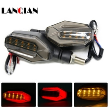 цена на Motorcycle LED Turn Signal Moto Flasher Indicator Light DC 12V Universal Amber Blinker Lamp