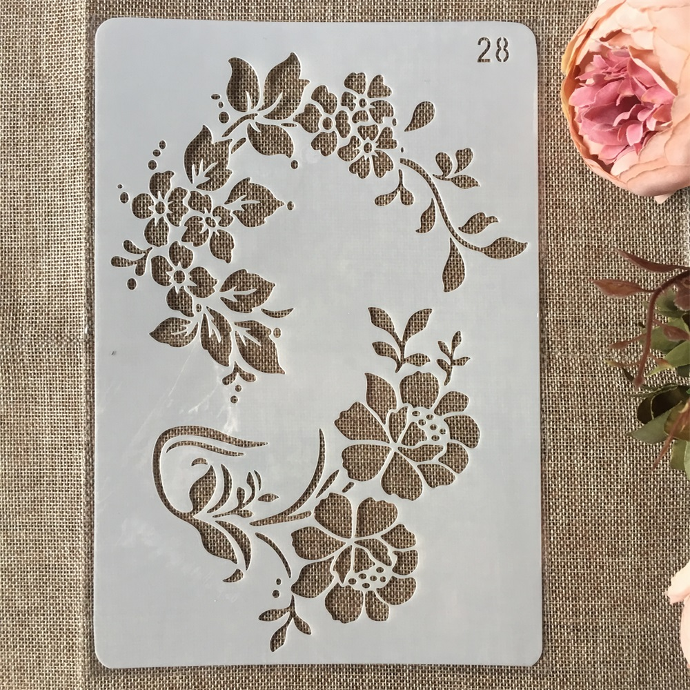 New 26cm Flower Leaves DIY Craft Layering Stencils Painting Scrapbooking Stamping Embossing Album Paper Card Template