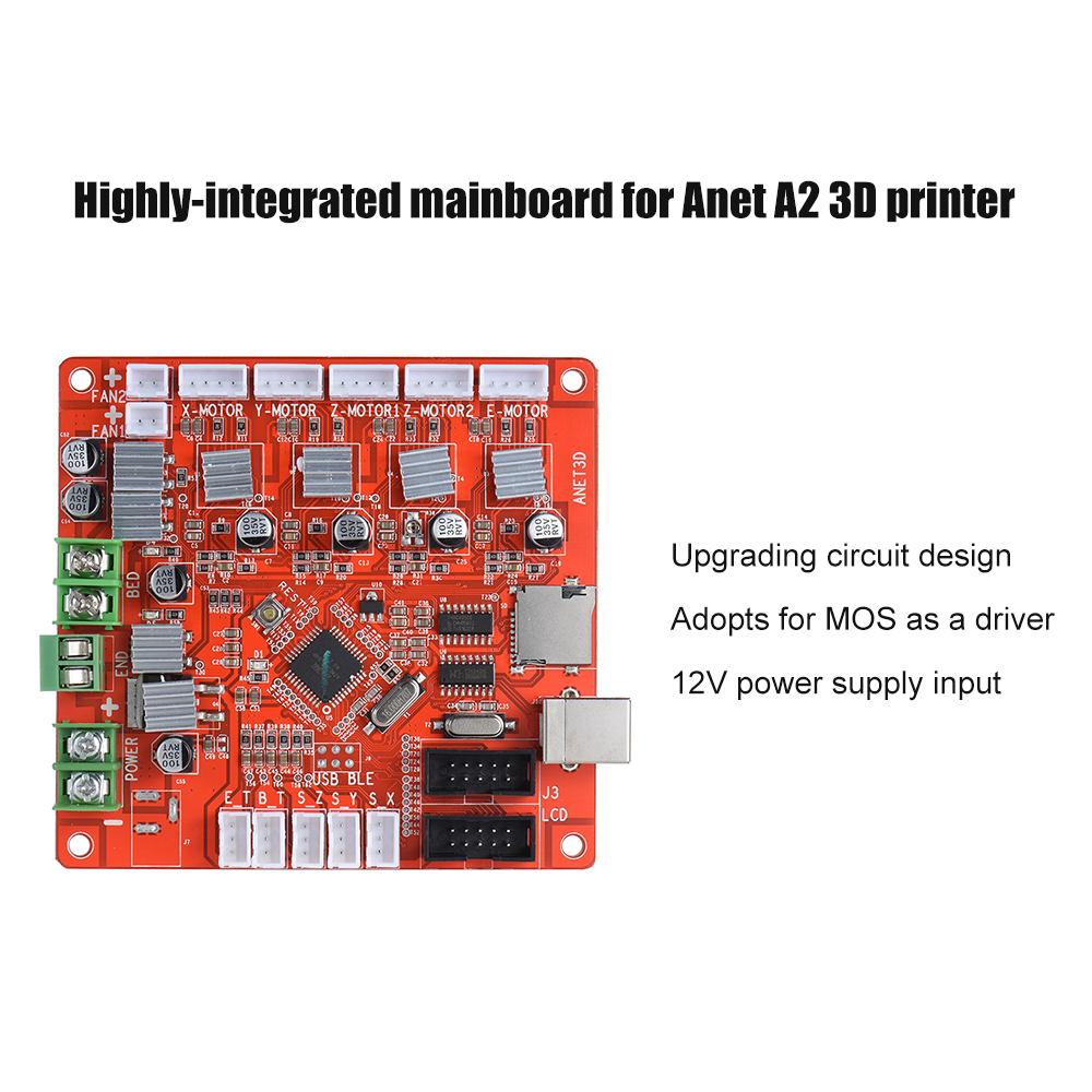 Buy Anet A1284 Base Control Board Mother Circuit Diagram Wireless Printer 12864 Lcd Smart Controller For 3d Supports Ramps 14 Built In Encoder Allows You Adjusting The Parameter And Selecting File To