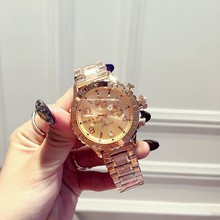 2016 Quartz Gold Watch Men Luxury Brand Top Rose Golden Watches Women Ladies Female Cock Male Famous Casual Fashion Wristwatch