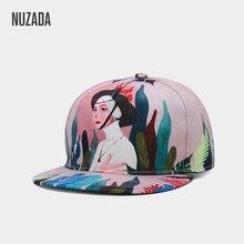NUZADA дизайн стиль HD 3D печать мода Париж девушка для мужчин женщин Пара хип хоп кепки s сезон: весна-лето