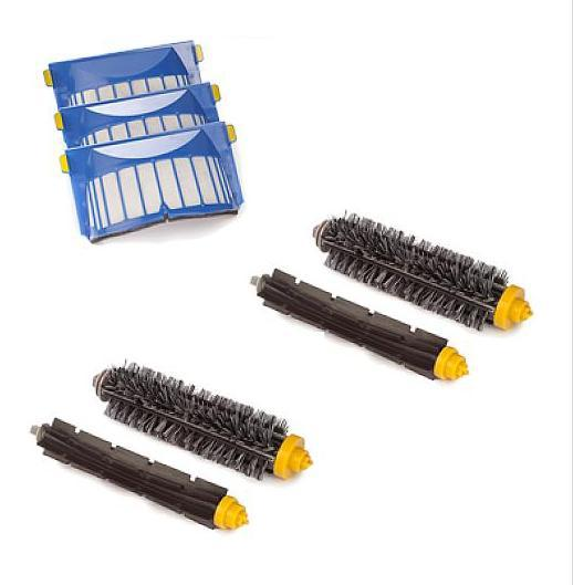 Aerovac Filter +Bristle and Flexible Beater Brush for iRobot Roomba 600 610 620 630 650 660 680 Vacuum Cleaner Accessories. bristle brush flexible beater brush fit for irobot roomba 500 600 700 series 550 650 660 760 770 780 790 vacuum cleaner parts