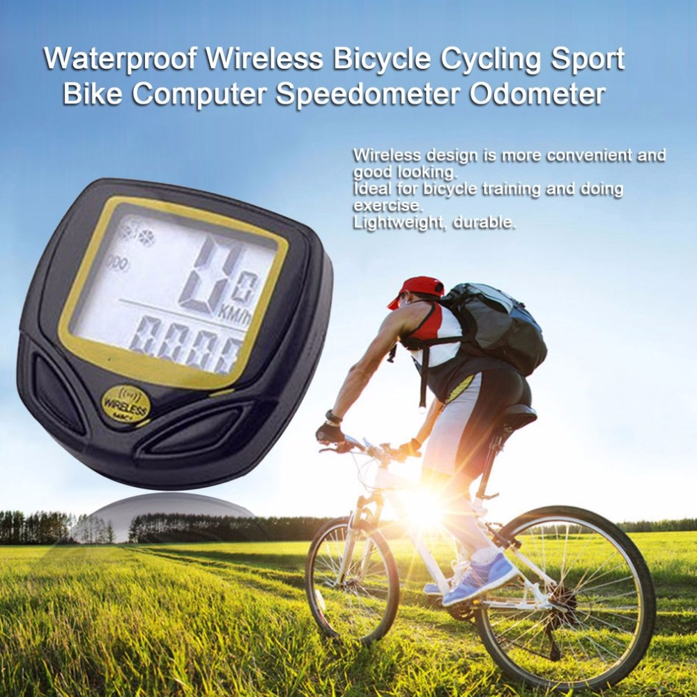 Bike Speedometer Waterproof Wireless Bicycle Bike Computer and Cycling Odomet...