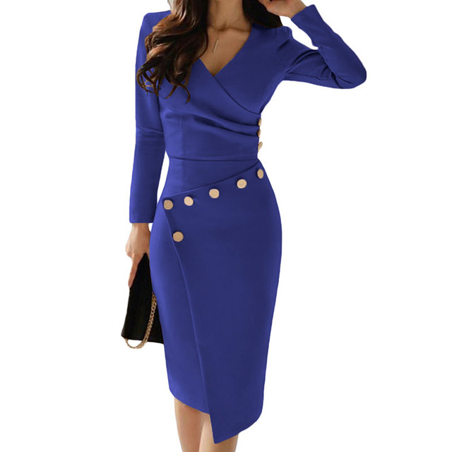 Red long sleeve ruched bodycon dress