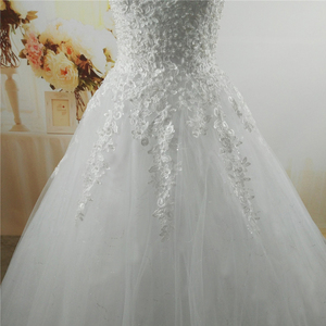 Image 5 - ZJ9076 C 2019 White Ivory pearls Wedding Dresses 2019 2020 with lace bottom for brides dress plus size 2 26W