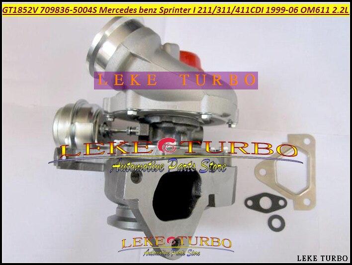 GT1852V 709836 709836-0004 709836-0003 A6110961599 Turbo For Mercedes Benz Sprinter I 211CDI 311CDI 411CDI 99- OM611 2.2L 141HP  цены