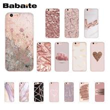 Babaite Emas Rose Love Heart Phone Case untuk iPhone 11 Pro 11Pro MAX 8 7 6 6S Plus X XS MAX 5 5S SE XR(China)