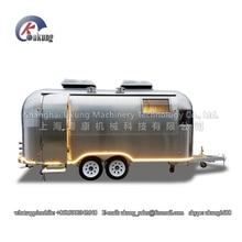UKUNG бренд AST-210 модель индивидуальные нержавеющая сталь фаст-фуд трейлер