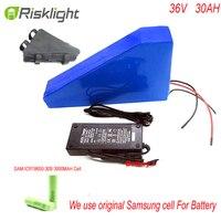 36V 30Ah Lithium battery 1000W 36V 30Ah Triangle shape 10S Electric Bike battery for Bafang BBS01 motor kit