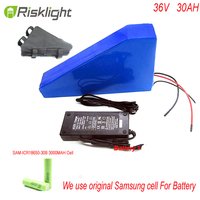 36V 30Ah Lithium battery 1000W 36V 30Ah Triangle shape 10S Electric Bike battery for Bafang BBS01 motor kit