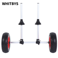 Sit On Top Kayak Trolley Collapsable Alloy Cart plug in Canoe Carrier 100kg