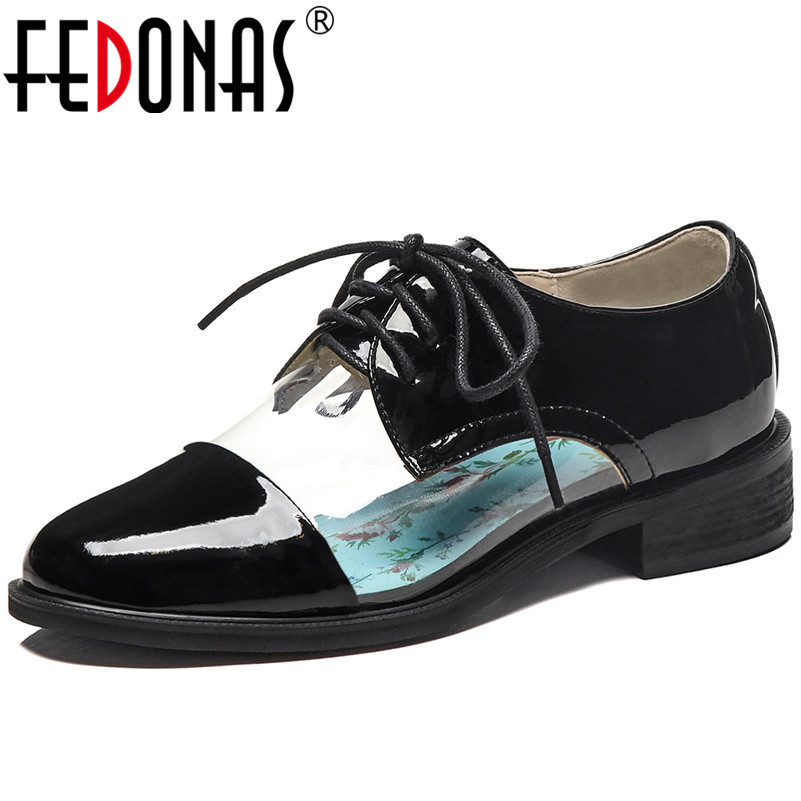 FEDONAS Classic Design Genuine Leather Women Pumps Casual Shoes Round Toe Rome Basic Shoes 2019 New Arrival Fashion Shoes Woman