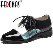 FEDONAS Classic Design Genuine Leather Women Pumps Casual Sh