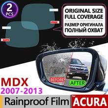 Для Acura MDX 2007~ 2013 YD3 полное покрытие противотуманная пленка зеркало заднего вида непромокаемые прозрачные пленки аксессуары 2008 2009 2010 2011 2012