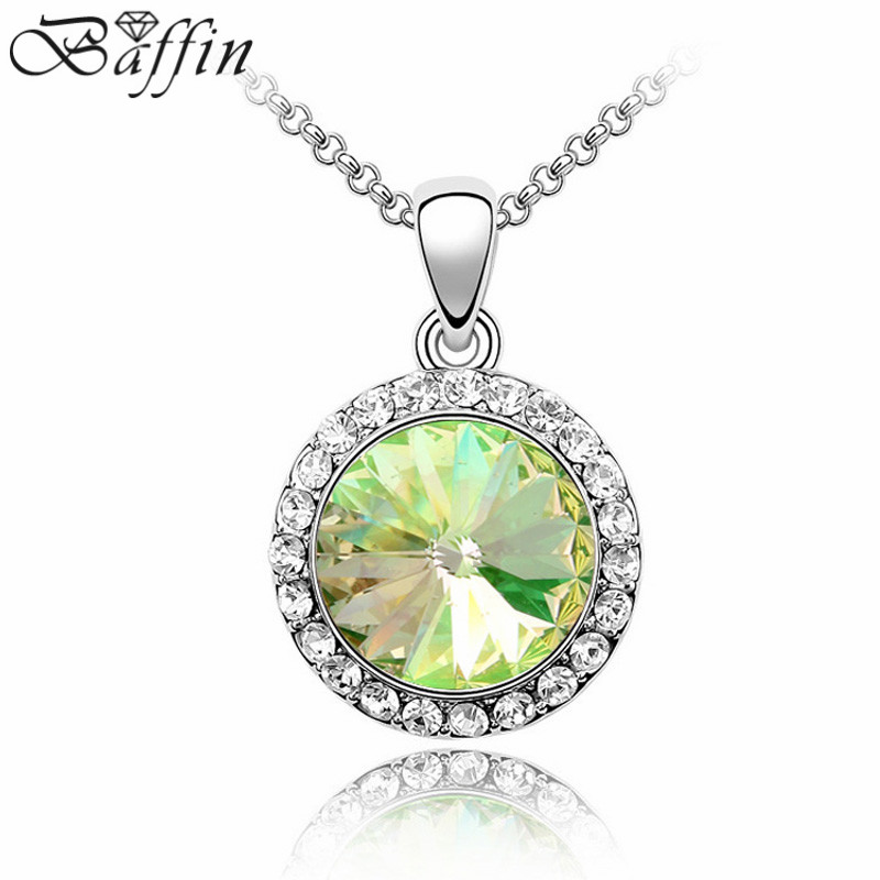 Crystal From Swarovski Necklaces & Pendants Luxurious Sunflowers Fashion Jewelry for Birthd Gifts Girl 2016 New