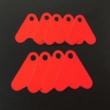 100Pcs Red Heat Shape Sequins DIY Metal Spoon Fishing Lures Hard Hook Plastic