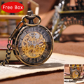 Gold Royal London Eyes Fashion Men Vintage Pocket Watch Vintage Antique Mechanical Hand Wind Luxury Necklace Watch   PW013