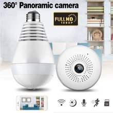 Bulb Light Wireless IP Camera Panoramic Wi-Fi Lamp FishEye WIFI Camera 360 Degree CCTV 3D VR Camera Home WiFi Camera Panoramic(China)