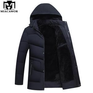 MIACAWOR 2018 Coats Warm Winter Jackets Men Parka Hooded 1d50053f8baf