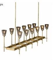 Rh americano retro cobre ouro led lustre