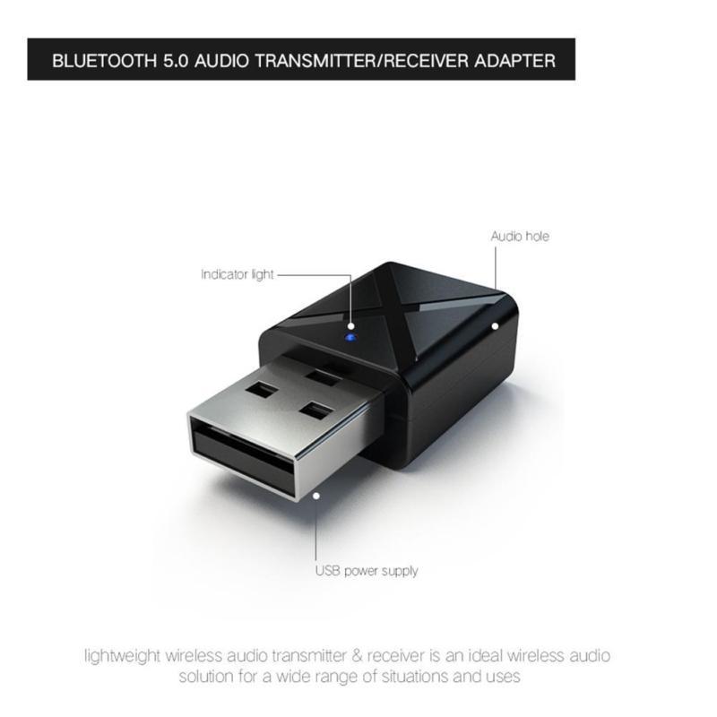 2 в 1 Bluetooth5.0 передатчик/приемник адаптер музыкальный приемник для автомобиля Портативный автомобиля Aux мини музыкальный ресивер Смарт-стерео