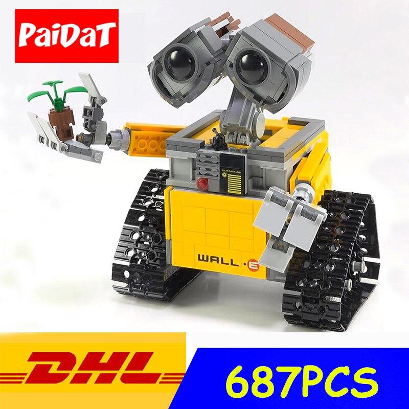 Paidat 16003 687pcs Building Block Ideas Robot WALL E model Compatible Legoing technic 21303 Toys for Children Gift blocks