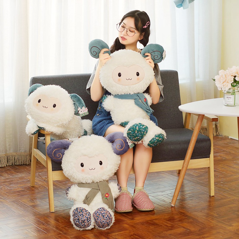 Hot 2019 New 1pc 90cm HOT Sale Plush Toys Stuffed Cotton Animal Sheep Dolls ValentineS Day For Children Gifts