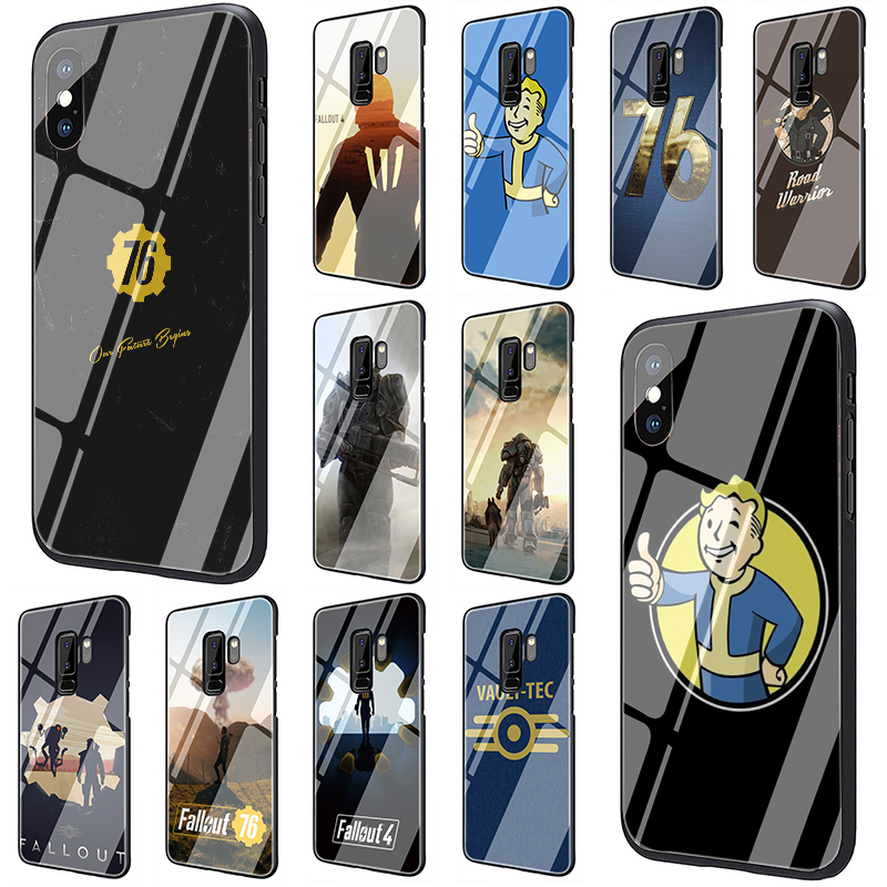 Fallout <font><b>Tempered</b></font> <font><b>Glass</b></font> phone <font><b>case</b></font> for <font><b>Samsung</b></font> Galaxy S7 Edge S8 S9 S10 Plus Note 8 9 A10 A20 A30 A40 A50 A60 <font><b>A70</b></font> image