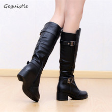 Fashion Women Boots Knee High Slim Boots Solid Colors Riding Women Elegant Comfortable Boots