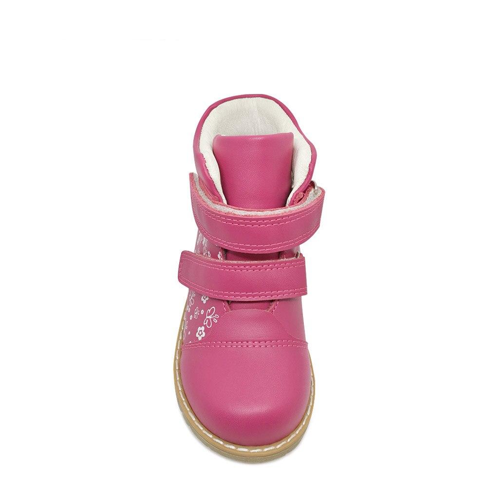 Mode printemps automne enfants décontracté chaussures orthopédiques enfants papillon impression chaussures en cuir filles bambin chaussures de sport - 4
