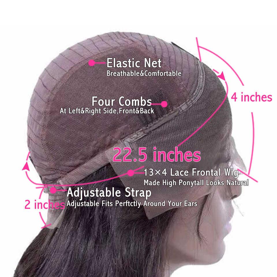180 плотность Синтетические волосы на кружеве человеческих волос парики предварительно сорвал Бразильские Длинные прямые Синтетические волосы на кружеве парик Remy кружева закрытия парики для Для женщин