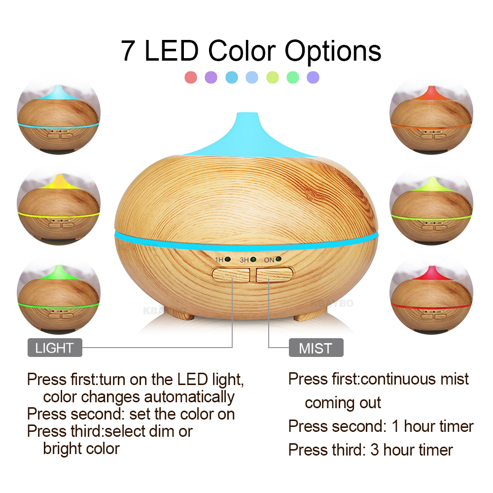 150ml Ultrasonic Humidifier Cool Mist Aroma Diffuser Aromatherapy Wood Essential Oil Diffuser LED lights for Office Home fun egg cartoon aromatherapy essential oil diffuser led lights ultrasonic cool mist aroma air humidifier for office baby bedroom